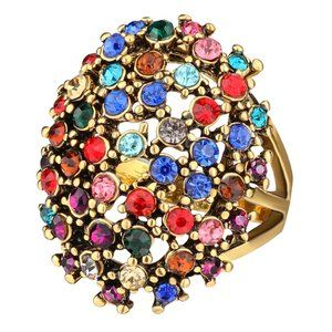 Crystal Rings For Women Vintage Ring Size9